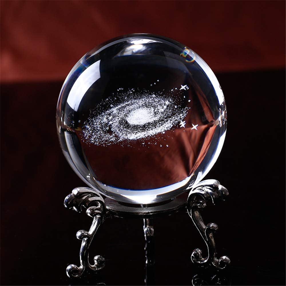 Diam/ètre Terre Galaxie Poche en Cristal Boule De Laser 3D Gravure Au Quartz Boule De Verre D/écoration de La Maison Accessoires Cadeau 8cm
