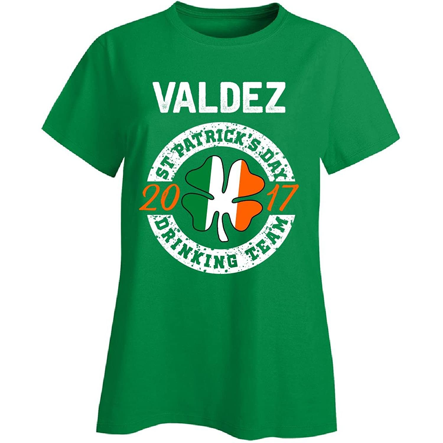 Valdez St Patricks Day 2017 Drinking Team Irish - Ladies T-shirt