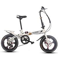 Faltrad 16 Inch Damen Variabler Geschwindigkeit Stoßdämpfer Erwachsenen Super Licht Student Kinderfahrrad Mit Korb