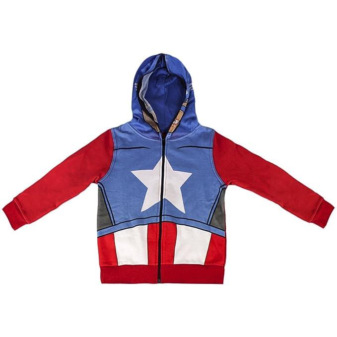 Marvel Avengers -Captain America - Felpa con Cappuccio Chiusura Totale con  Zip Bambino - Novità Prodotto Originale 0879  Azzurro - 6 anni   Amazon.it   ... abe006e1297e