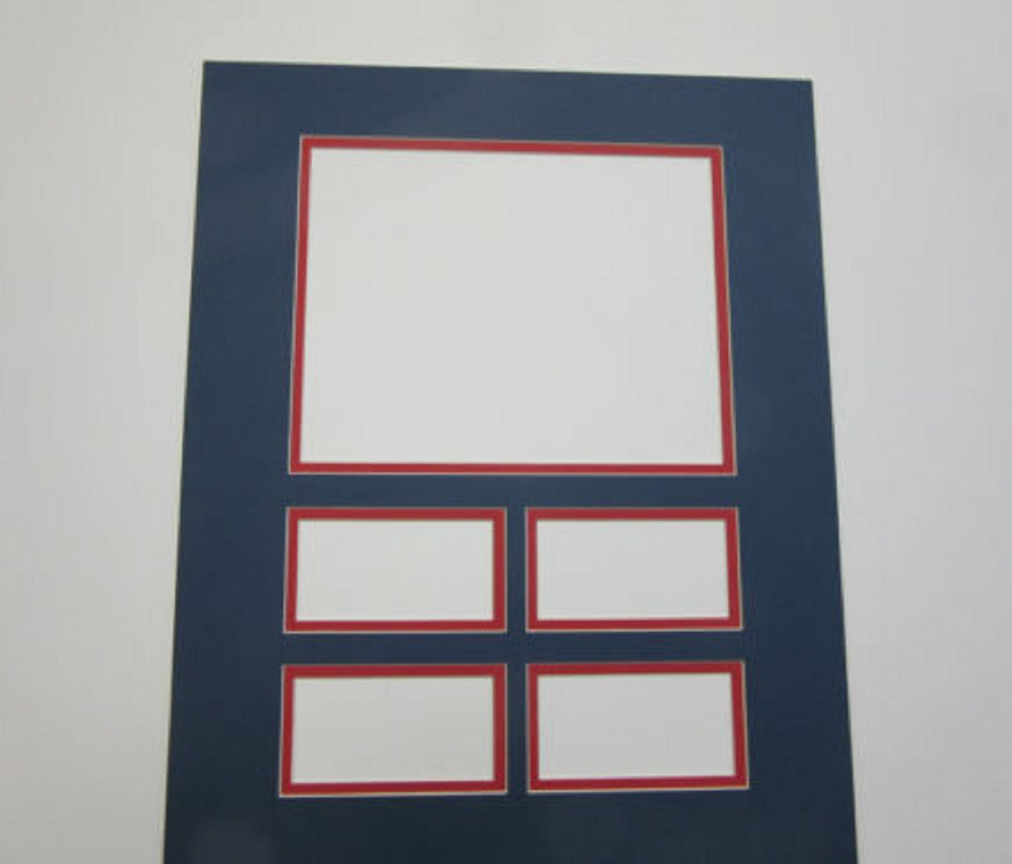 USA Premium Store Picture Framing Mats Navy and Red Cardinals colors set of 4