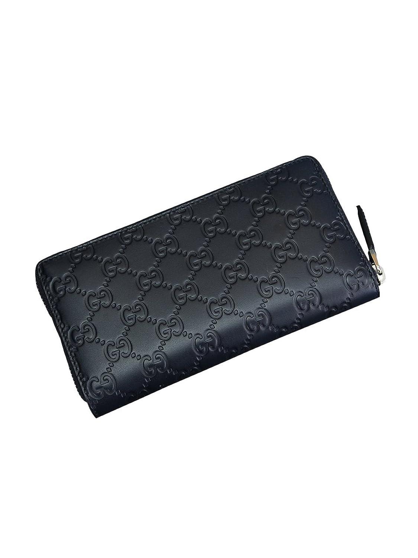 (グッチ) Gucci GUCCISSIMA レザーラウンドジップ式長財布 ブルー [並行輸入品] B01C8FZDQAブルー