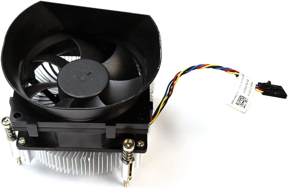 FKG1H Genuine OEM Dell Optiplex 790 990 DESKTOP 65 Watt Performance CPU Cooling Fan Heatsink Combo 65W Shroud Assy w/4 Inch Cable 5p 4w Captive Screws DT Shrouded Thermal Module DW014 HHXTV
