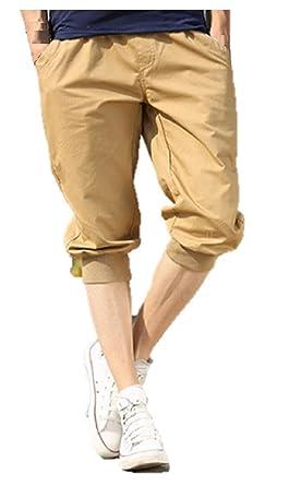 (ボナスティモーロ) Buona stimolo メンズ ファッション 7分丈 ショートパンツ カジュアル 無地 カラー ハーフ