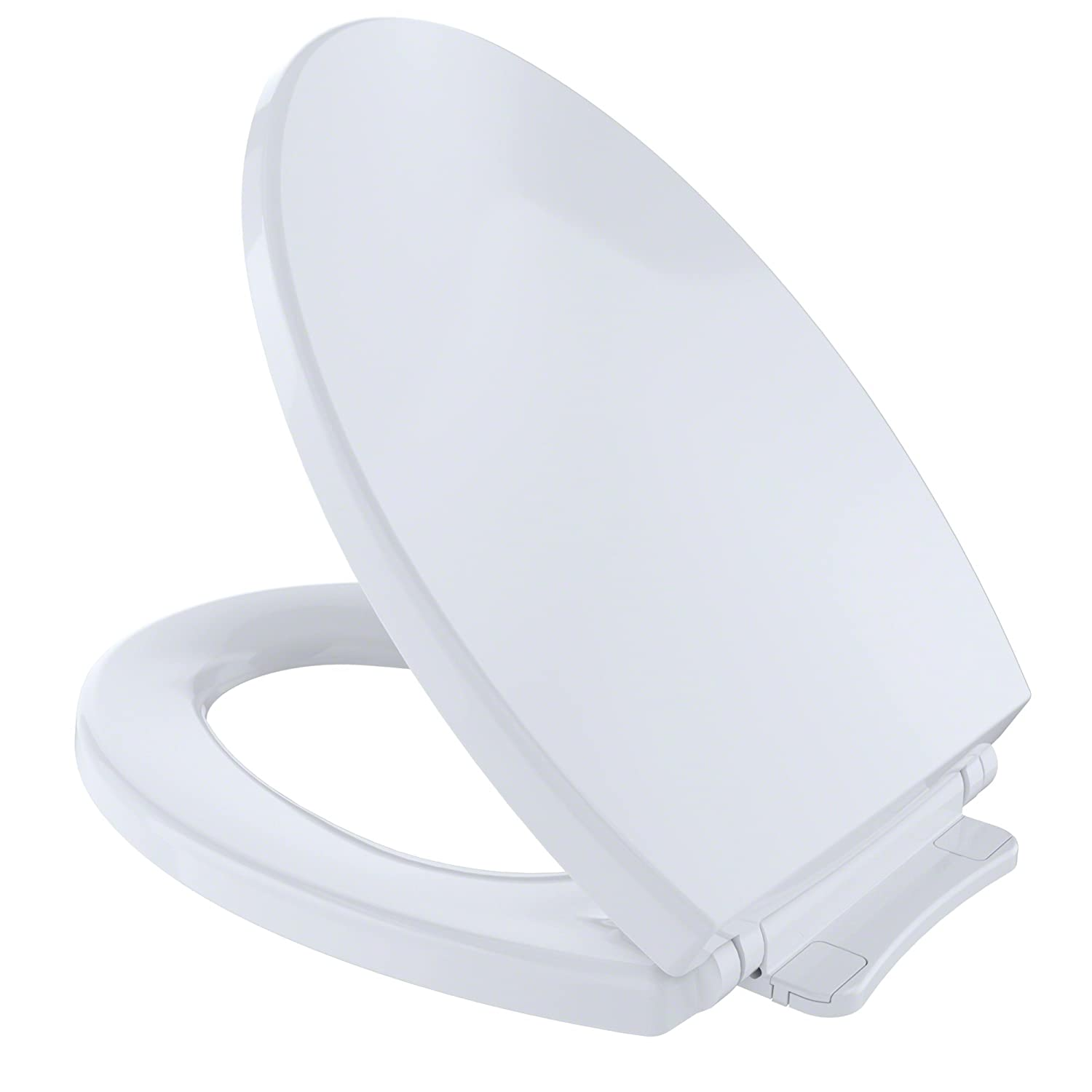 plastic toilet seat covers. Toto SS114 01 SoftClose Elongated Toilet Seat Cover  Cotton White Amazon com