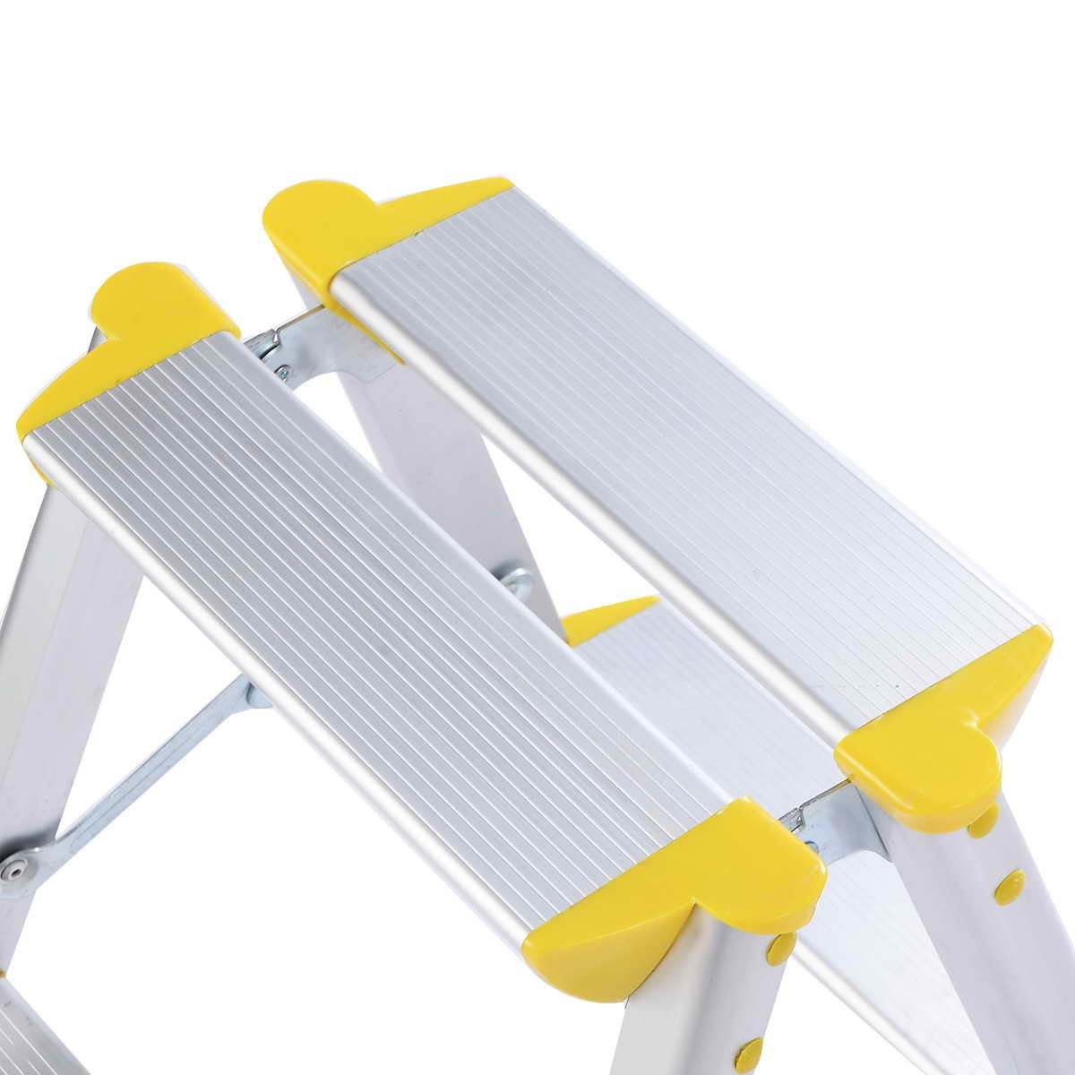 Safeplus 2 Step Aluminum Ladder Folding Platform Work Stool 330 lbs Load Capacity (Style-01)
