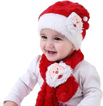 2 Gorros de Papa Noel Accesorios de Navidad para Regalos de Festividad 2 Gorras Navide/ño y Sombreros de Santa Claus Tradicionales Rojos y Blanco