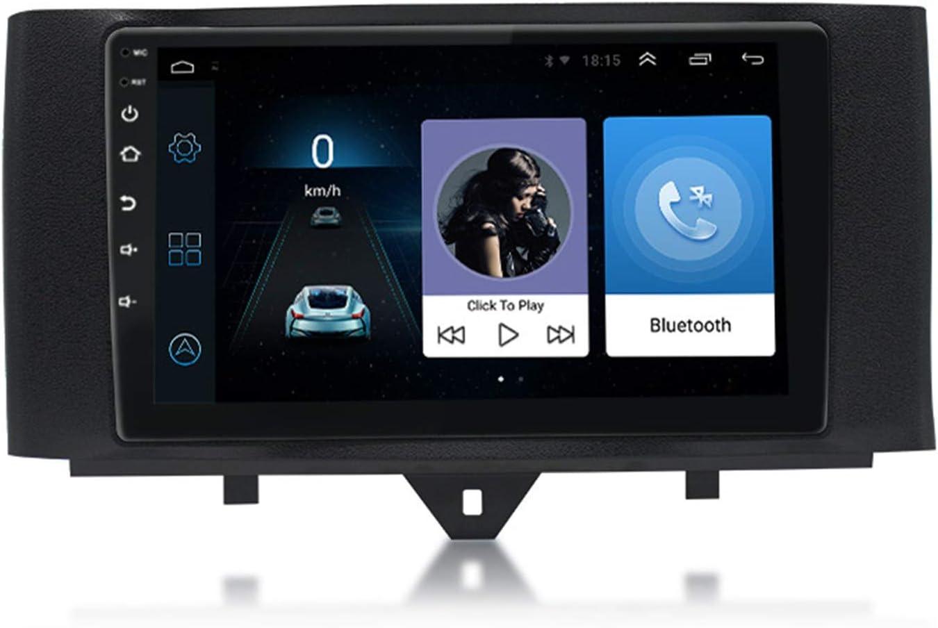 ZJ Android 9.1 Radio De Coche Unidad De Control De Navegación para Coche Reproductor Multimedia De PosicionamientoIPS 2.5D Pantalla Táctil para Mercedes-Benz Smart 11-15