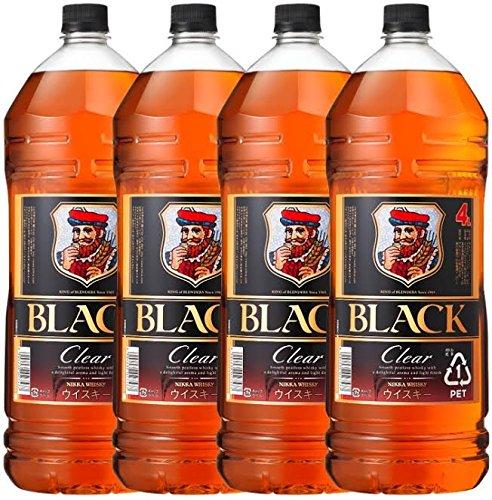 ブラックニッカクリア [ ウイスキー 日本 4000ml×4本 ] B01M6VYJO0  4000ml×4本