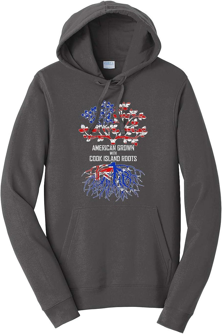 Tenacitee Unisex American Grown with Cook Island Roots Hooded Sweatshirt
