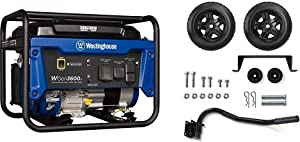 Westinghouse WGen3600v Portable Generator - 3600 Rated Watts & 4650 Peak Watts - CARB Compliant & Champion Wheel Kit with Folding Handle and Never-Flat Tires for Champion 2800 to 4750-Watt Generators