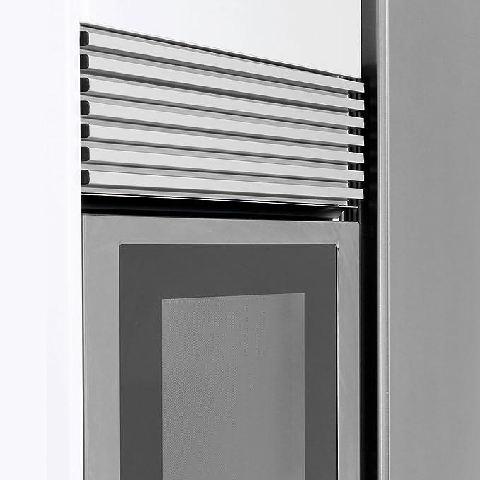 Emuca 8934869 Rejilla de Ventilación para Frigorífico/Horno, Aluminio anodizado acero inoxidable: Amazon.es: Bricolaje y herramientas