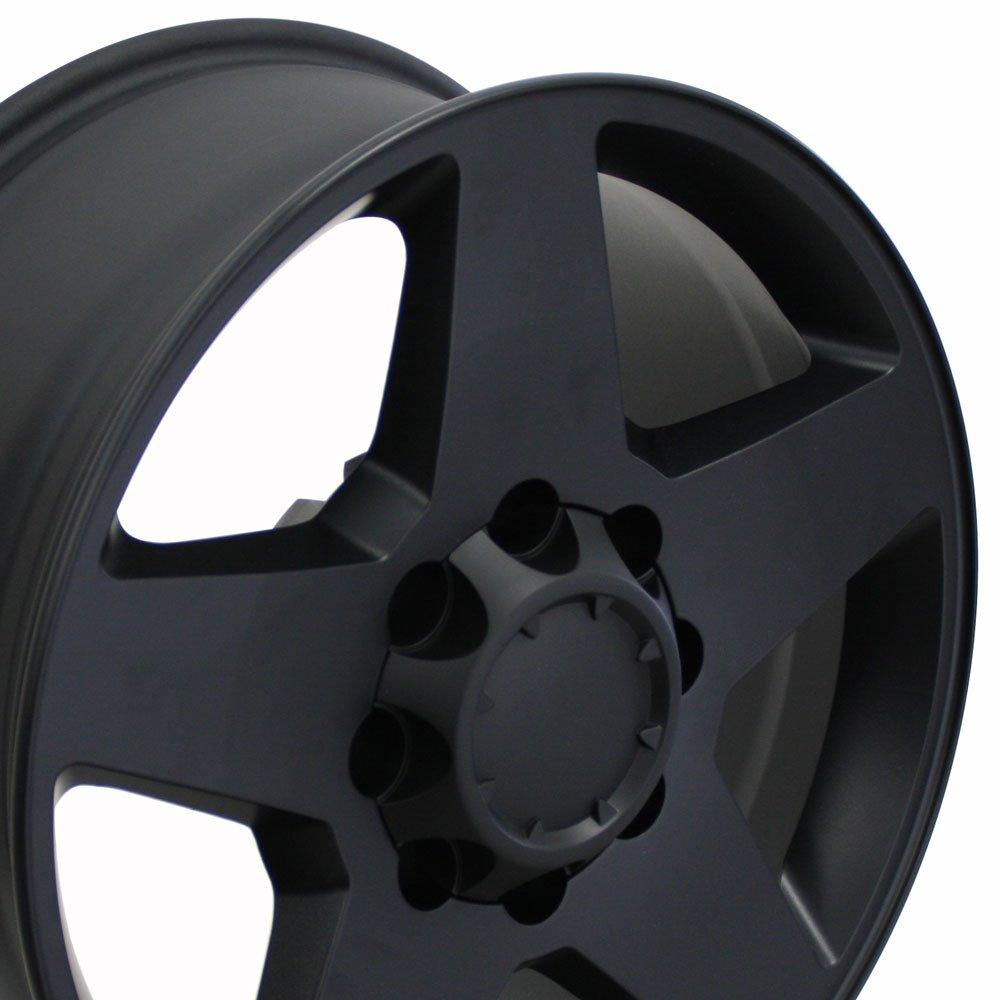 OE Wheels 20 Inch Fits Chevy 2500 3500 GMC 2500 3500 8x165.1 Heavy Duty Silverado Style CV91A Satin Black 20x8.5 Rim Hollander 5503