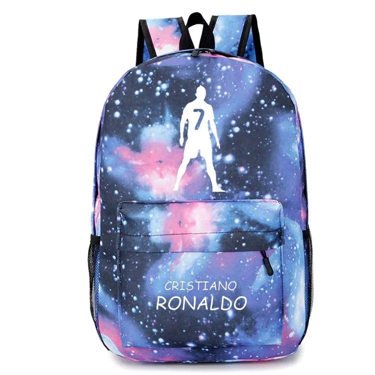 Galaxy blueee One Size Col92 Cristiano Ronaldo School BackpackSports Fan BackpackBackpack for Outdoor,Travel