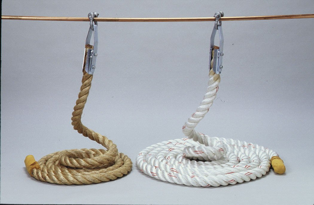 Poly Climbing Rope in White ( 24 ft。) B0002VQVKA