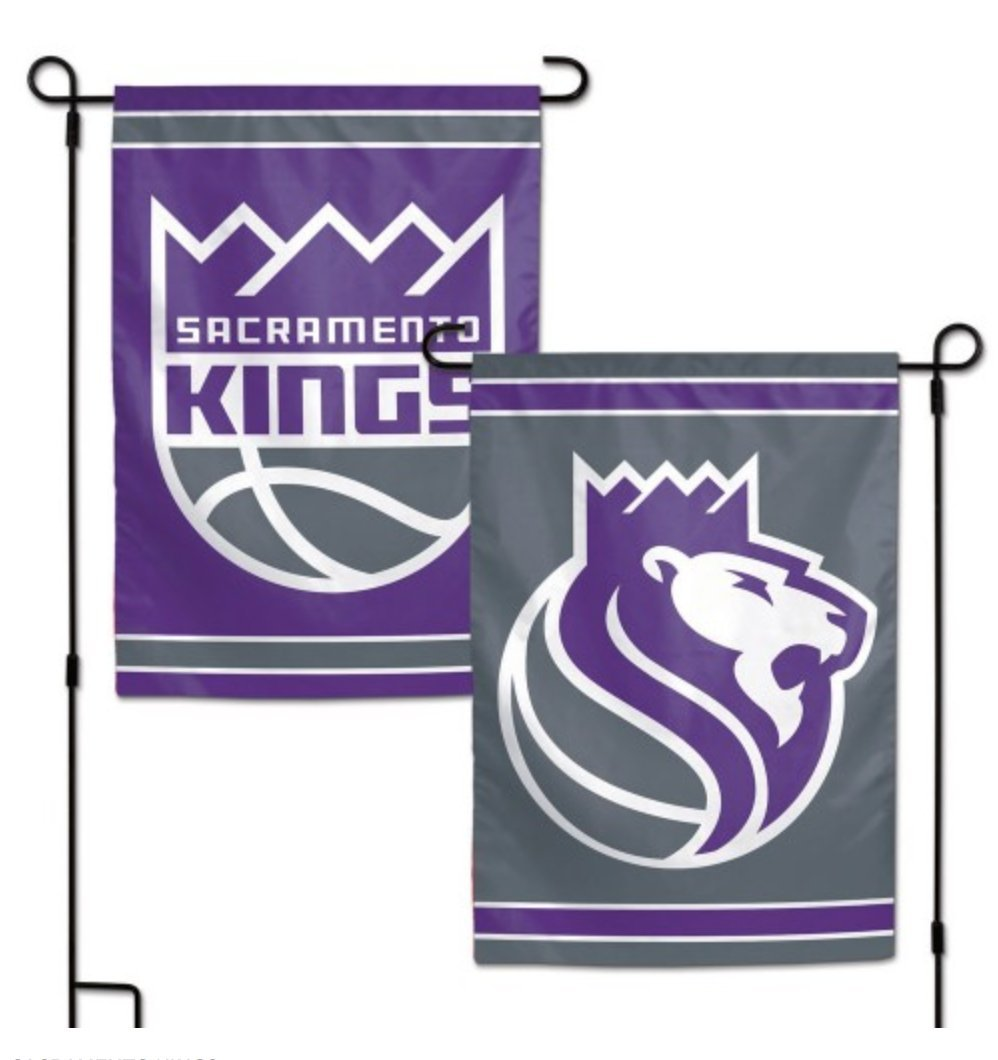 WinCraft NBA Sacramento Kings 12.5'' x 18'' Inch 2-Sided Garden by WinCraft