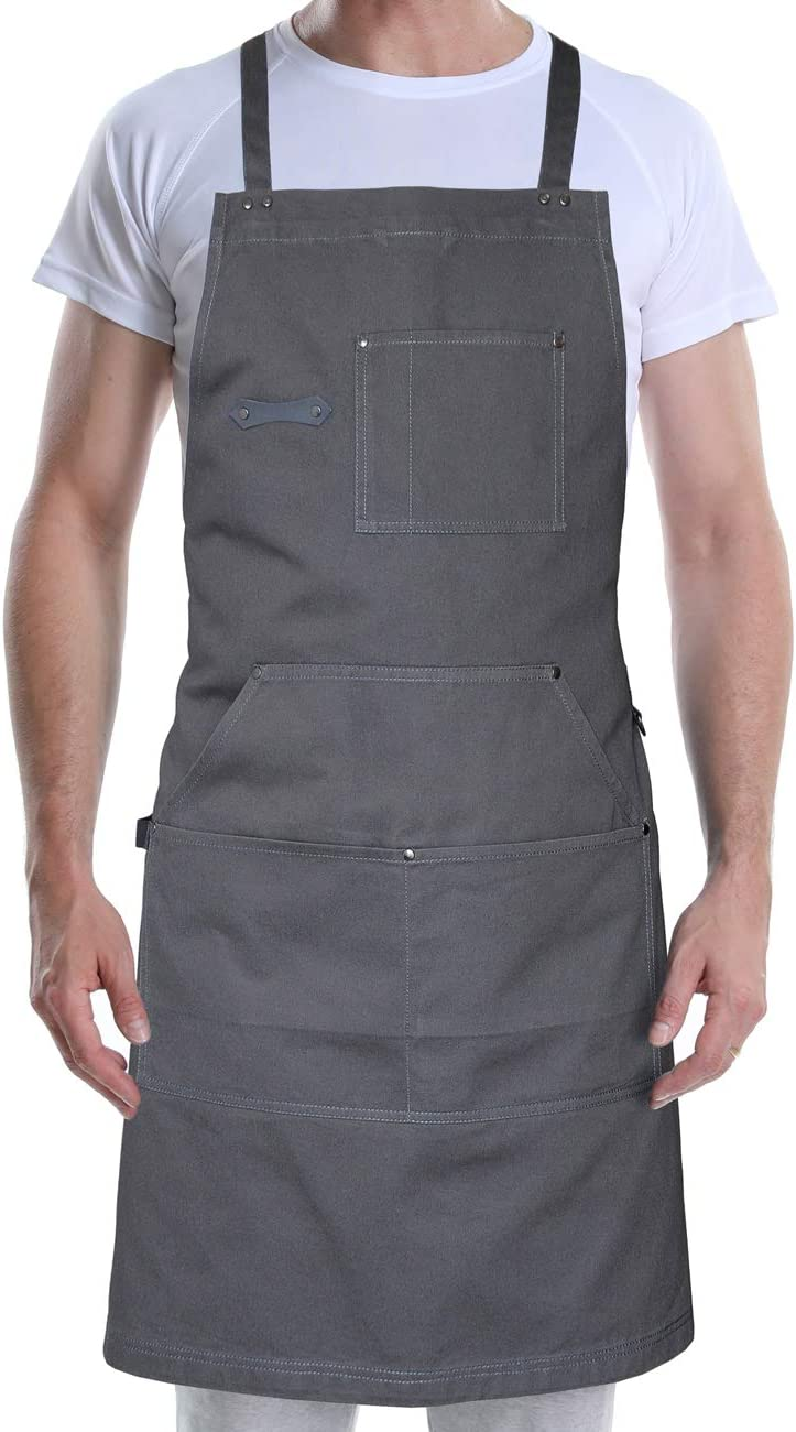 Details about  /Kitchen Apron Cooking Chef Restaurant Cooking Bib Adjustable Polyester Apron