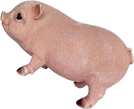 Amazon.es: joyMerit Estatua De Jardín De Animales De Resina - Escultura Realista De Cerdo, Decoración De Jardín Interior Y Exterior Adorno De Patio De Parque Accesorios D - Cerdo de pie Rosa: