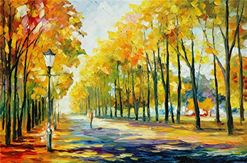 100% Hand Painted Oil Paintings Modern Abstract Paintings Wall Art Paintings Birch Forest Home Decor (36X54 Inch, Decor 2) by Bingo Arts