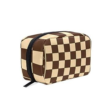 3737802b03f6 Amazon.com : HELVOON Educational Chess Board Cosmetic Bag Toiletry ...