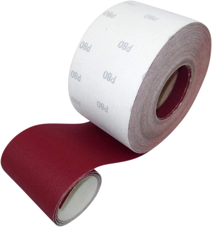 ECKRA 2604 Velcro Sandpaper Roll 93 mm x 25 m P240 Red Brown