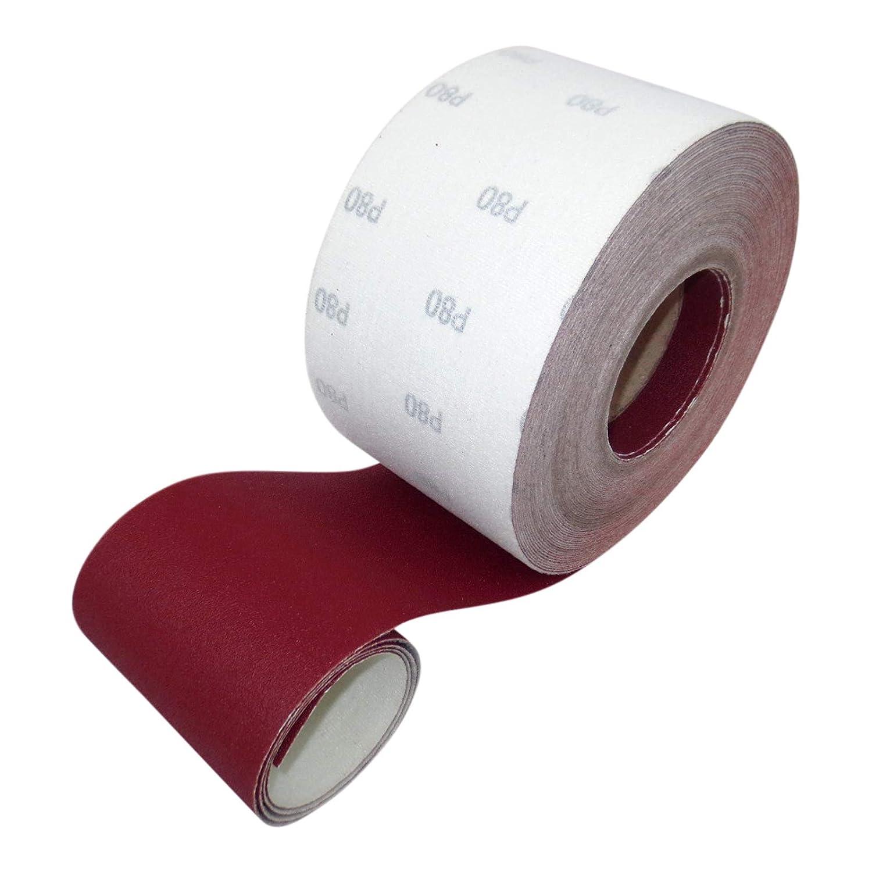 93 mm x 25 m Rotolo di carta vetrata colore: Rosso ECKRA 2602 P180