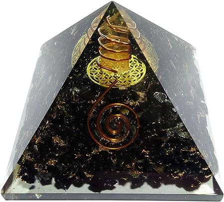 TREE OF LIFE BLACK TOURMALINE ORGONITE PYRAMID MEDITATION ENERGY GENERATOR