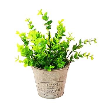 Plante Artificielle Eucalyptus Bonsai Fausse Plante Verte Artificielle Petite Decoration Pour Interieur Et Exterieur Famille Jardin Salon Bureau