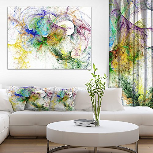 Wings of Angels Purple Abstract Canvas art print by Design Art