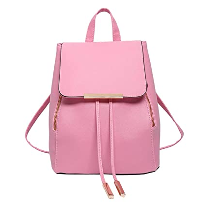 Amazon.com: Backpack Women Pu Leather Female Backpacks Teenager School Bags Mochila Feminina Rucksack Mochilas Mujer as pic show2 12 inches: Computers & ...