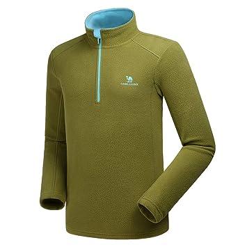 CAMEL CROWN Forros Chaqueta de Lana para Hombre &Mujer Primavera y Otoño 1/4 Zip Pullover Thermal Sweater