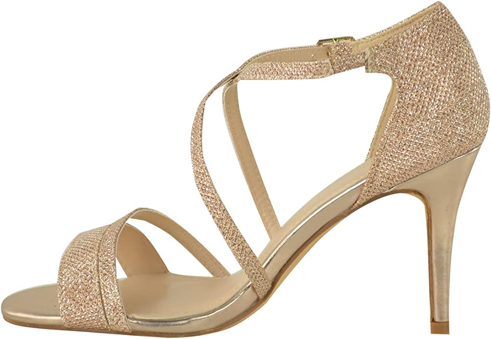 Fashion Thirsty Sandales Avec LanièresPetit Talon à Strass Soirée Femme