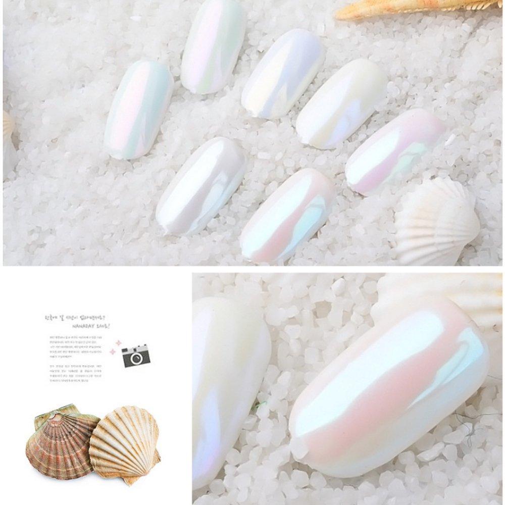 PrettyDiva 7 Jar Pearl Powder Mirror Effect Chrome Nail Powder Metallic Nail Manicure Pigment by Pretty Diva (Image #3)