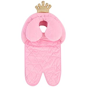 Oenbopo Baby Head Neck Support Soft Stroller Cushion for Car Seat and Stroller (Pink)