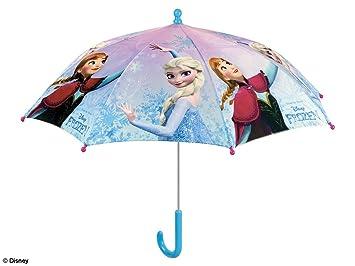 PERLETTI 50216 - Paraguas Abierto de Seguridad para niña 42/8 con Estampado de Frozen