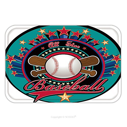 Flannel Microfiber Non-slip Rubber Backing Soft Absorbent Doormat Mat Rug Carpet All Stars Of Baseball 180784760 for (Baby All Star Memory Book)