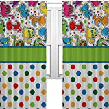 RNK Shops Dinosaur Print & Dots Curtains – 56″x80″ Panels – Lined (2 Panels Per Set) (Personalized)