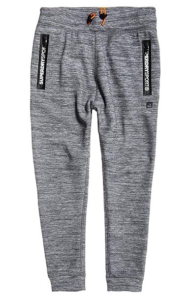 b66fcc4a2b6aa0 Superdry Men's Gym Tech Slim Jogger Sweatpants, Concrete MARL/Ice Space  Dye, Small