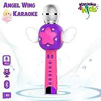 Angel Wing Karaoke Microfono Infantil para niños, Micrófono de Grabación Inalámbrico para Niños, Máquina de Karaoke Recargable Juguetes para Niñas, Regalos de Cumpleaños para Niñas niños 3 4 5 6 Años