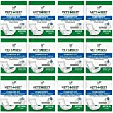 Veterinarian's Best Comfort-fit 12 packs of 12 wraps (144 total wraps) Disposable Male Wrap,Medium