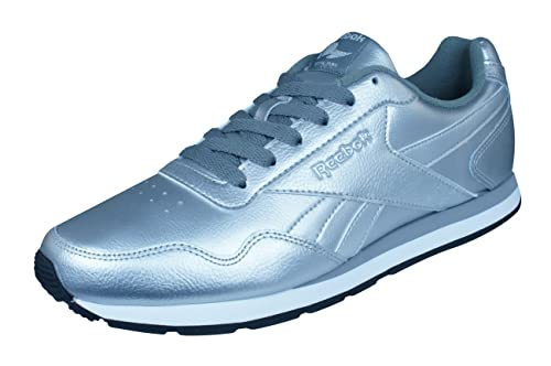 9483dbc876c9d2 Reebok Classic Royal Glide Womens Trainers Shoes-Silver-7.5  Amazon ...