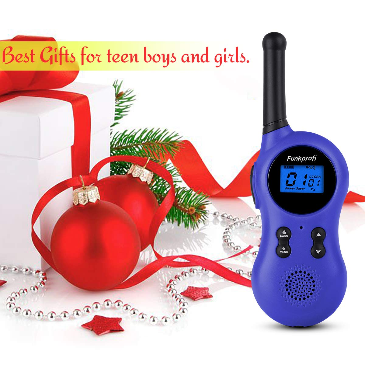 Funkprofi Walkie Talkies for Kids 22 Channels VOX Voice Activated Rechargeable Kids Walkie Talkies for Camping, Hiking, Batteries and Type C Cable Included, Ideal Toys for Teen Boys and Girls by Funkprofi (Image #6)