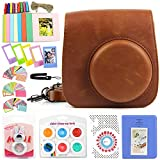 wogozan Compatible Fujifilm Instax Mini 9/8 instant Camera Bundle with Case/Album/Filters/Camera Sticker/Selfie Len/Photo Frames/Hand Strap&Other Accessories for instant camera (vintage brown)