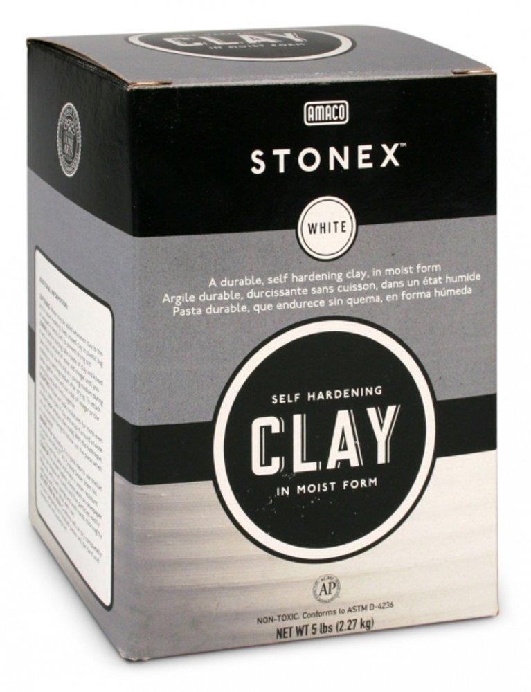 Amaco Stonex Self-Hardening Clay, 5-Pound, White 47338C