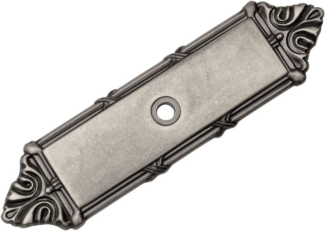 Cosmas 9467WN Weathered Nickel Cabinet Hardware Knob Backplate//Back Plate