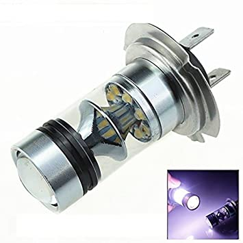 Amazon.com: KaTur 100W H7 20SMD Cree Fog Light Bulb DRL Running Lights Bulb Lampochka Bombillas Ampoule: Automotive