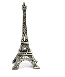 Nightwolf 5.9 inch Bronze Paris Eiffel Tower Modelling Iron Craft Art Gift for Home Decoration Statues