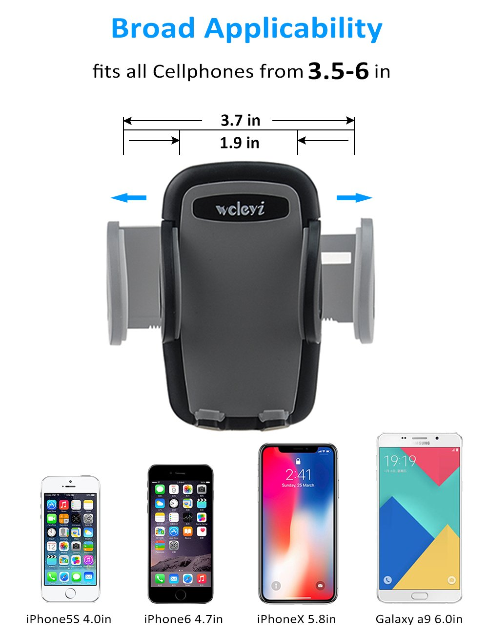 woleyi Car Vent Mount Air Vent Clip - Car Holder for Cell Phones and GPS by woleyi (Image #2)