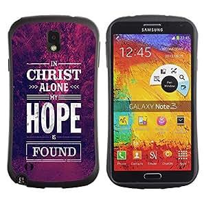 Suave TPU GEL Carcasa Funda Silicona Blando Estuche Caso de protección (para) Samsung Note 3 / CECELL Phone case / / Christ Hope God Christian Purple /