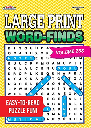 Large Print Word-Finds Puzzle Book - Volume 233
